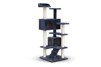 Cat Scratching Post Tree House Condo 134cm (Grey)