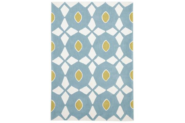 Blue and Yellow Nest Rug 225x155cm