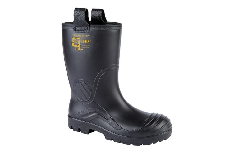 Grafters Mens PVC Waterproof Industrial Safety Rigger Boot (Black) (10 UK)