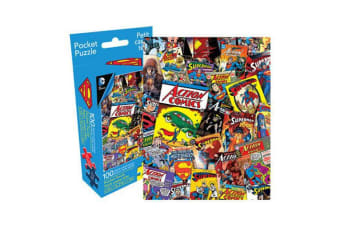 DC Comics Superman Retro Collage 100pc Pocket Puzzle