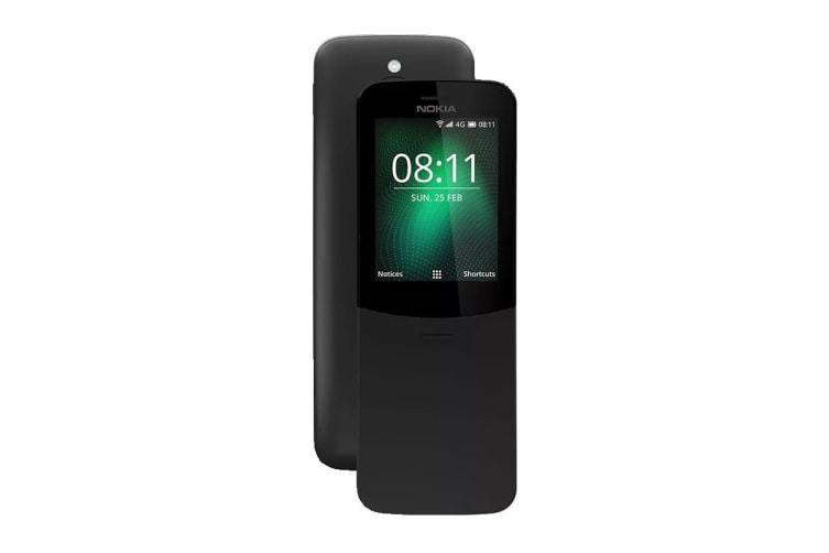 Nokia 8110 4G (4GB, Traditional Black)