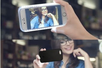 Selfie Case for iPhone 6/6s with Power Bank (Black)