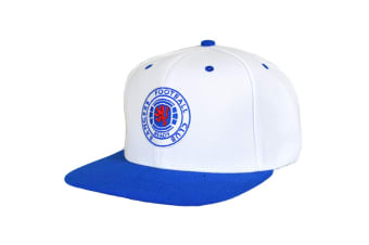 Rangers FC Official Football Crest Snapback Cap (Blue/White)