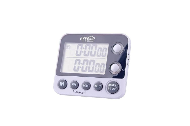 Appetito Dual Digital Cooking Timer 100 Hours Kitchen Tool