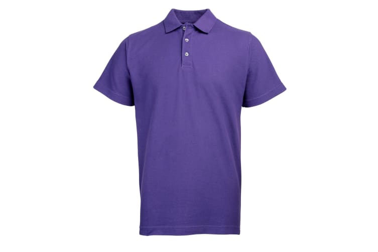 RTY Workwear Mens Pique Knit Heavyweight Polo Shirt (S-10XL) / Extra Large Sizes (Purple) (XL)
