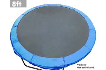 8ft Trampoline Replacement Safety Spring Pad Round Cover