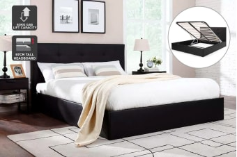 Ovela Bed Frame - Florence Gas Lift Collection (Black)