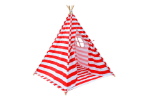 4 Poles Teepee Tent with Storage Bag (Red)