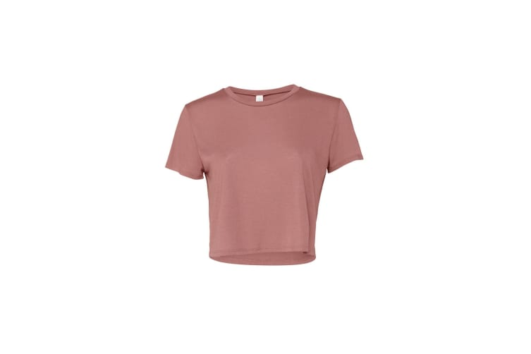 Bella + Canvas Womens Flowy Cropped Tee (Mauve) (S)