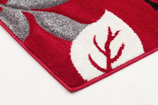 Stunning Thick Leaf Rug Red 400x80cm