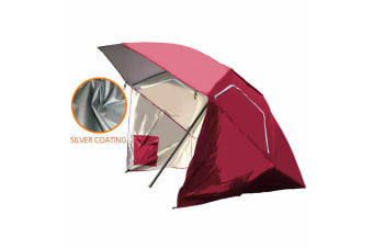 Portable Sun Shade Weather Shelter Umbrella Beach Pool Picnic Outdoor Camping AU  -  RedRed