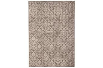 Hedge Indoor Outdoor Modern Grey Rug 160X110cm