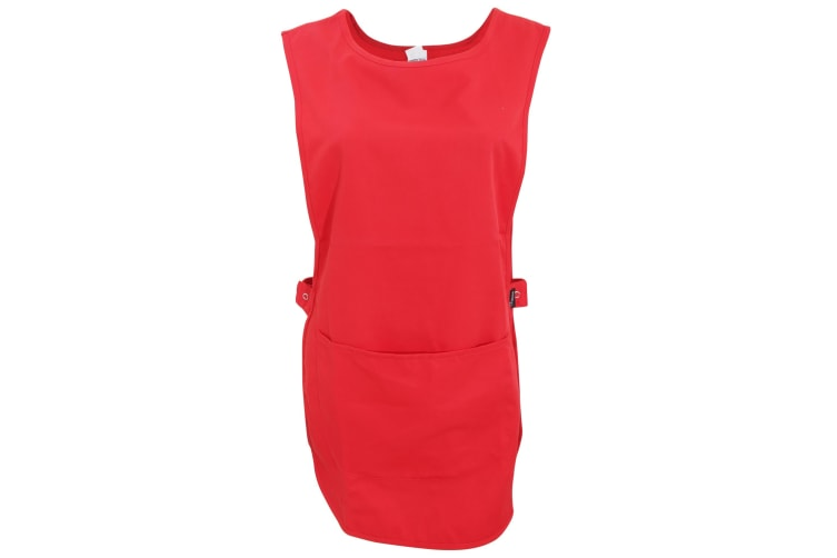 Dennys Womens/Ladies Tabard Apron With Pocket (Red) (S/M)