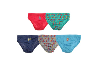 Tom Franks Boys Briefs (5 Pack) (Green/Navy/Red) (5/6 Years)