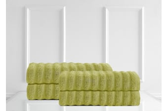 Renee Taylor Maison 600GSM 4 Pack Bath Sheets 100% Egyptian Cotton Luxury Towels - Spearmint
