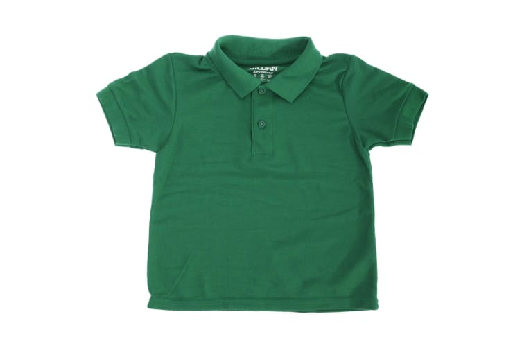 Gildan DryBlend Youth Sport Double Pique Polo Shirt (Pack Of 2) (Forest Green) (M)