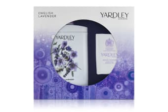 Yardley London English Lavender Corffet: Perfumed Talc 200g/7oz + Luxury Soap 100g/3.5oz 2pcs