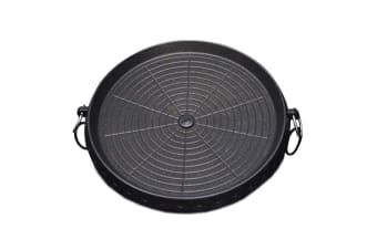 Portable Korean BBQ Butane Gas Stove Stone Grill Plate Non Stick Coated Round