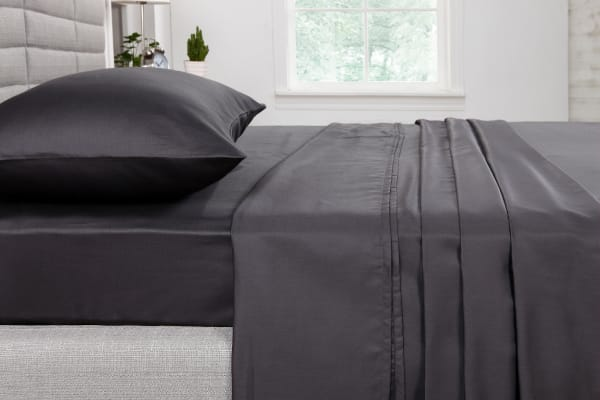 Ovela 400TC Cotton Rich Luxury Sheet Set (Single, Charcoal)
