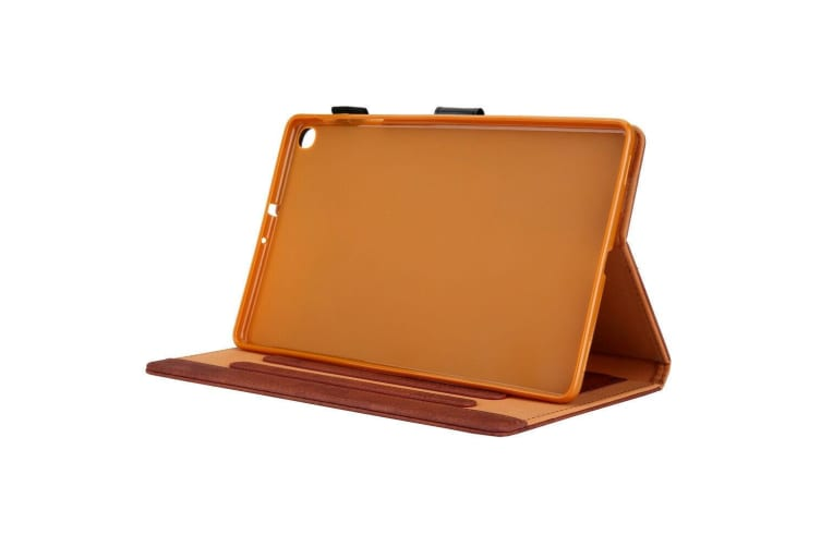 For Galaxy Tab A 8.0 2019 P200/P205 Tablet Flip leather Stand Cover Case-Brown