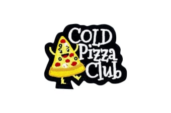 Grindstore Cold Pizza Club Patch (Yellow) (One Size)