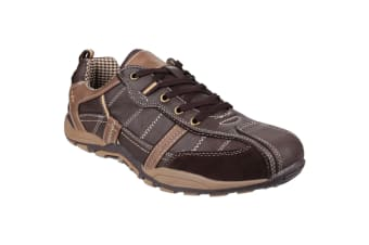 Fleet & Foster Mens Portsmouth Classic Lace Up Casual Shoe (Brown)