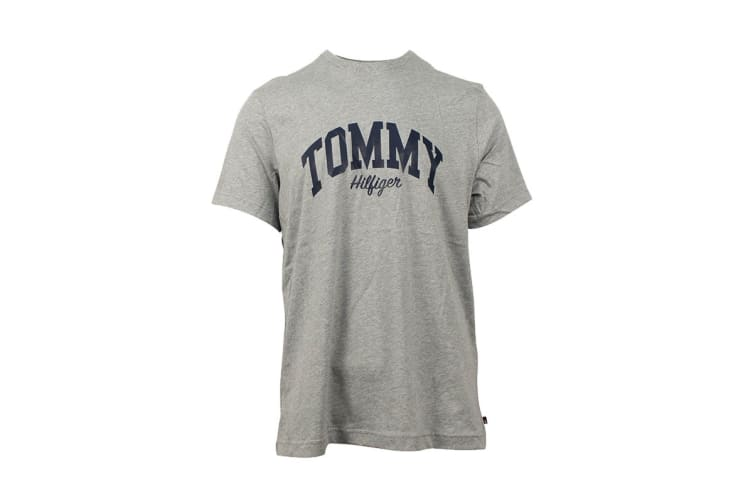 Tommy Hilfiger Men's Graphic Tee (Grey Heather, Size S)
