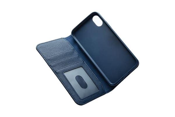 Cygnett CitiWallet Leather Case  for iPhone X - Navy