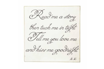 Read Me A Story Sign (White) (30 x 4 x 30cm)