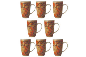 8PK Maxwell & Williams Morris 420ml Porcelain Floral Coffee Tea Coupe Mug Cup OR