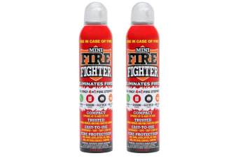 2x Mini Fire Extinguisher Fighter 250ml Home Office Kitchen Electrical Petrol