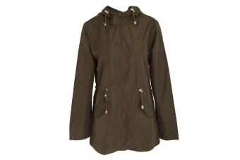Brave Soul Womens/Ladies Butterfly Design Parka Jacket (Khaki)