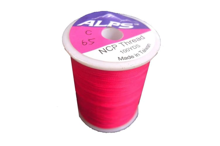 Alps 100yds of Hot Pink Rod Wrapping Thread - Size C (0.2mm) Rod Binding Cotton