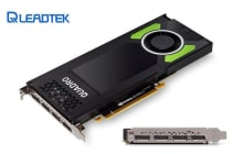 Leadtek nVidia Quadro P4000 PCIe Workstation Card 8GB DDR5 4xmDP 1.4 4x5120x2880@60Hz 256-Bit 243GB/s 1792 Cuda Core Single Slot Full Height
