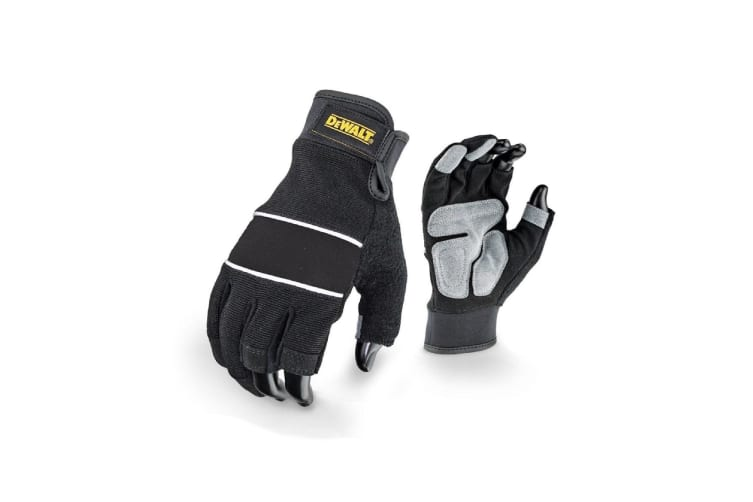 Dewalt Unisex Framer Performance Semi-Fingerless Glove (Black) (Large)