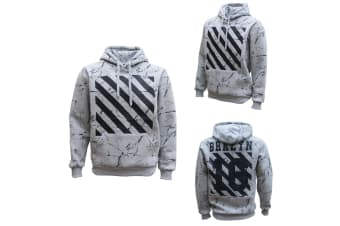 New Classic Unisex Adult Hoodie Pullover Casual Men's Sports Jumper White Black - Grey