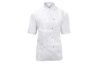 Dennys Ladies/Womens Short Sleeve Chefs Jacket / Chefswear (White)