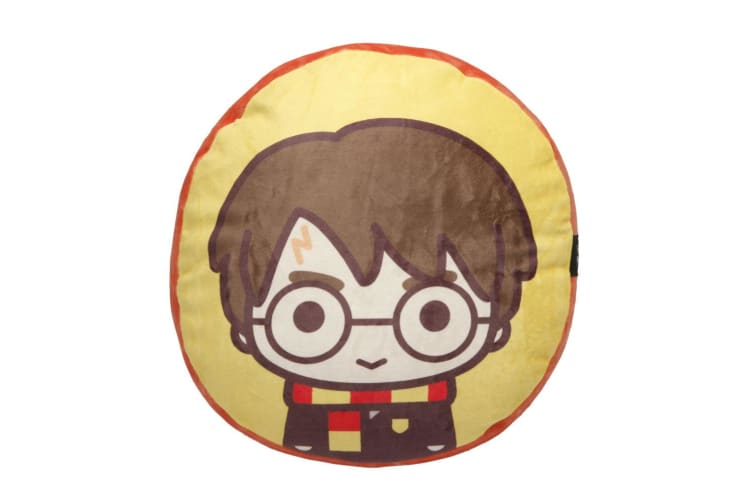 "Tomy Harry Potter 12"" Plush Cushion Throw Pillow Travel/Sofa/Home Decor Yellow"