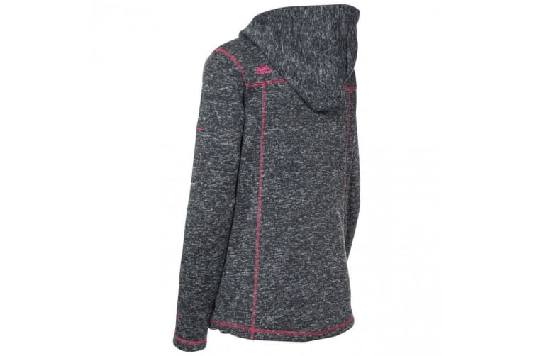 Trespass Womens/Ladies Odelia Fleece Jacket (Black Marl) (M)
