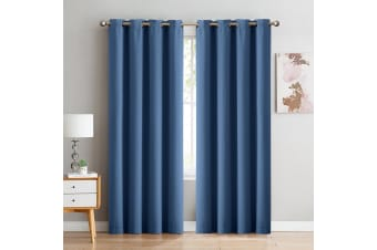 DreamZ Blockout Curtain Blackout Curtains Eyelet Room 102x160cm Indigo