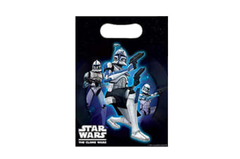 Star Wars The Clone Plastic Loot Bags (Pack of 8) (Multicoloured) (One Size)