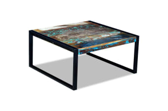 vidaXL Coffee Table Solid Reclaimed Wood 80x80x40 cm