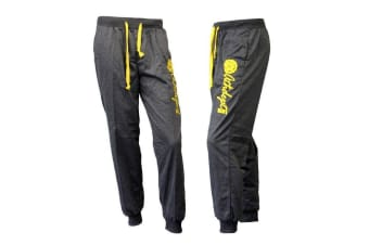 Mens Track Pants Cuff Trousers Harem Sports Casual Elastic Waist- Athdept -Dark Grey [Size:M]