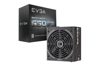 EVGA PSU (Full-Modular), 650W, 80+ Platinum 94%, SuperNOVA P2, 140mm Fan,