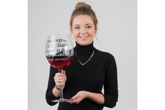 Giant Wine Glass: Holds 3 Bottles! World`s Largest Wine Glass