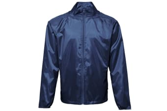 2786 Unisex Lightweight Plain Wind & Shower Resistant Jacket (Navy)