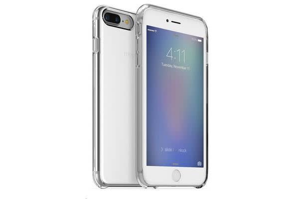 Mophie iPhone 7 Plus Hold Force Base Case - Clear Silver Gradient