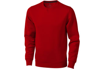 Elevate Mens Surrey Crew Neck Sweater (Red) (S)
