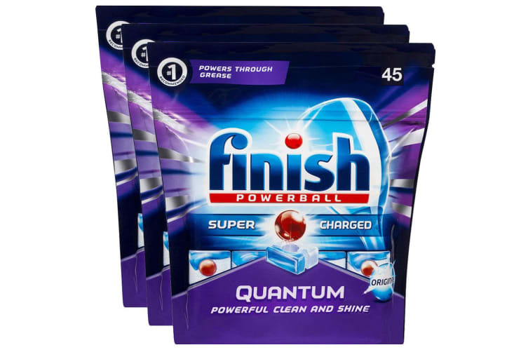 Finish 135 Tabs Quantum Powerball Super Charged Dishwashing/Dishwasher Tablet