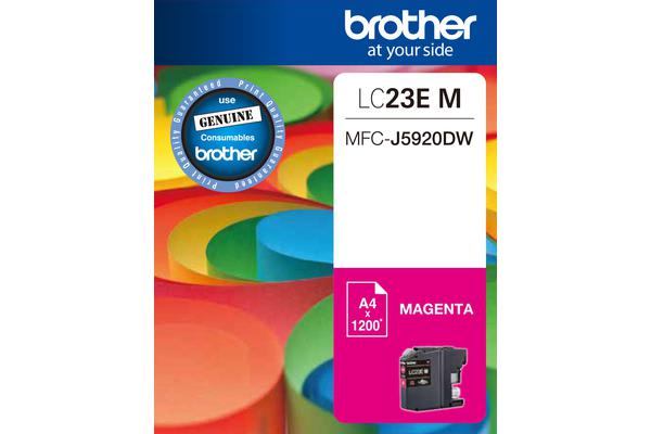 ***Brother LC23EM MAGENTA INK CARTRIDGE TO SUIT MFC-J5920DW - UP TO 2400 PAGES***AYS Partner Exclusive***